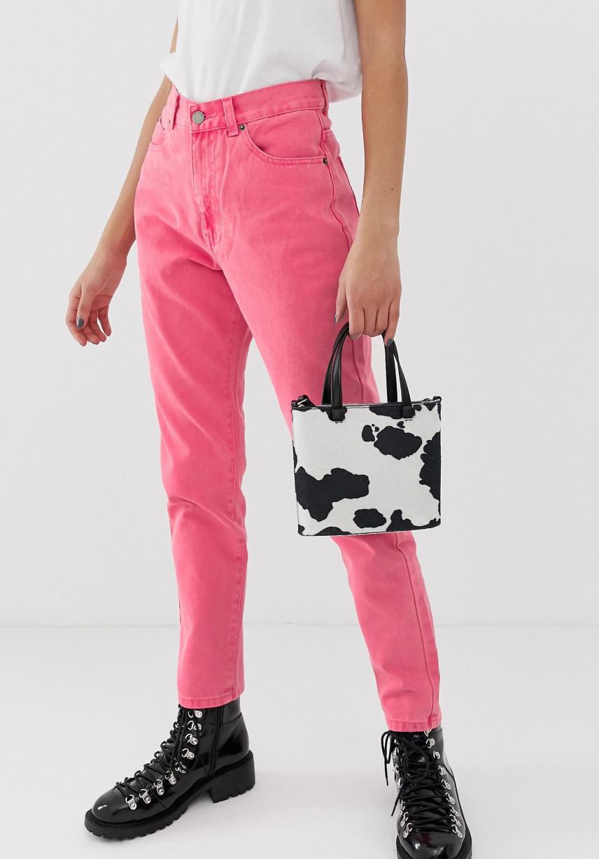 Dr Denim's Nora Pink High Shot Jeans