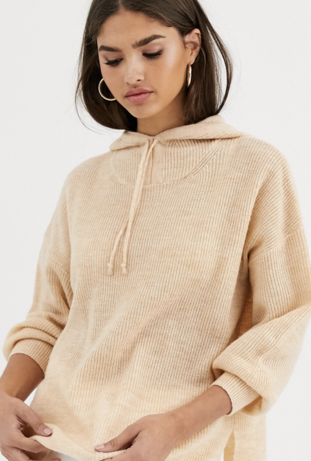 Asos SweatshirtSpinning hoodie with knotted detail of Micha Lounge's Luxe wool blend