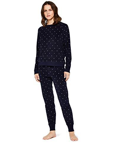 Iris & Lilly Amz19fwtb05 women's pyjamas, Multicoloured (MultiDot), 38 (Manufacturer's size: Small)