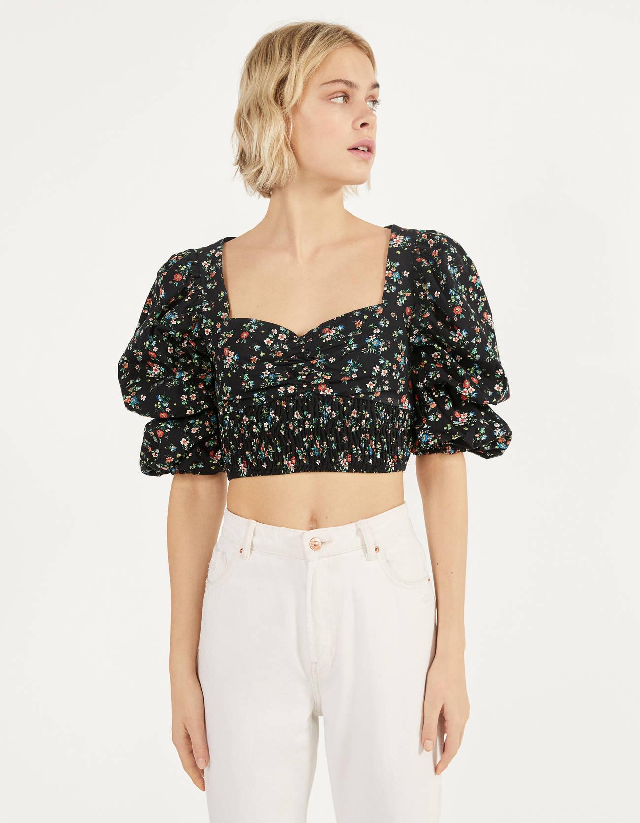 Floral print blouse