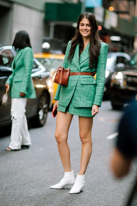 street style shorts suit