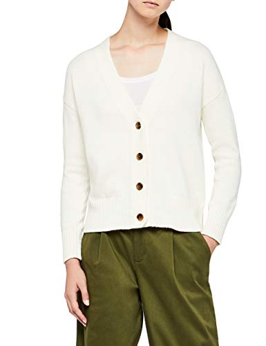 MERAKI Boxy Knit Jacket, Ivory Cream), X-Small