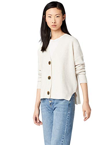 Amazon brand - find. Stitch Cardigan Knitwear, Beige Oatmeal), 40 (Manufacturer's Size: Medium)