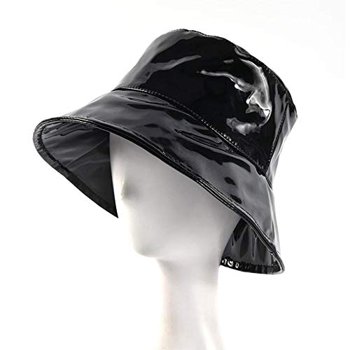 Welltobuy Pair Of Fashionable Patent Hat Hipster Street Hat Unisex Plain Outdoor Shower Test Bucket Hat Festival