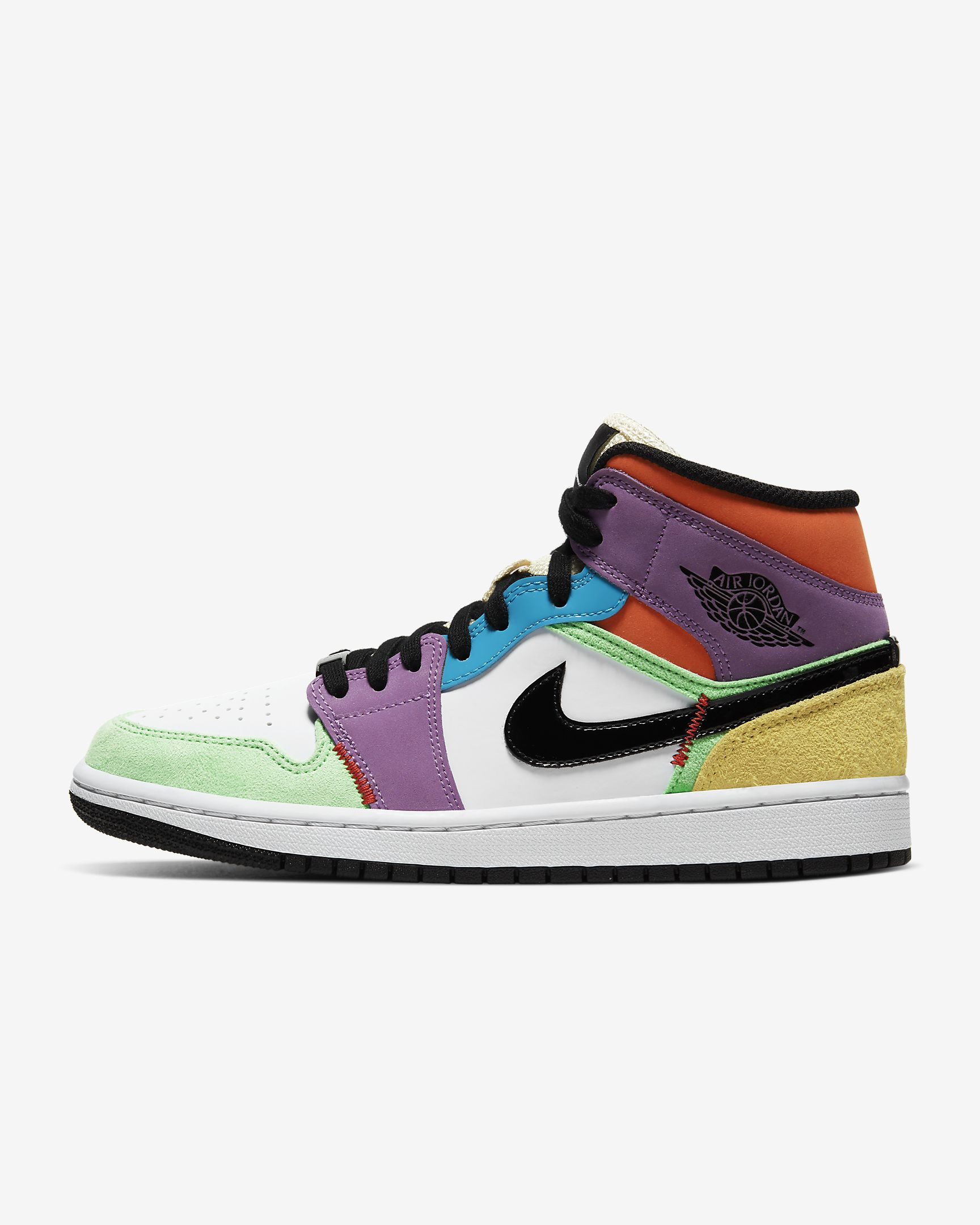 A new and colorful version of an icon. The Air Jordan 1 Mid SE offers the unmistakable style and attitude of the original AJ1 with a fresh fit for greater versatility.