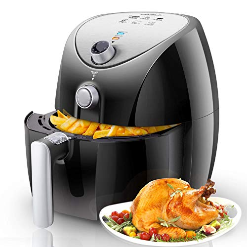 Aigostar Dragon Pro 30LDX - Oil-free air fryer, capacity 3.2 l, 1400W, non-stick basket, temperature selector 80-200°, automatic switch-off. BPA free. Exclusive design.