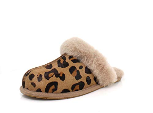 UGG W Scuffette II Leopard, Women's Home Stay Shoes, Multicolor (Amphora Amp), 36 EU