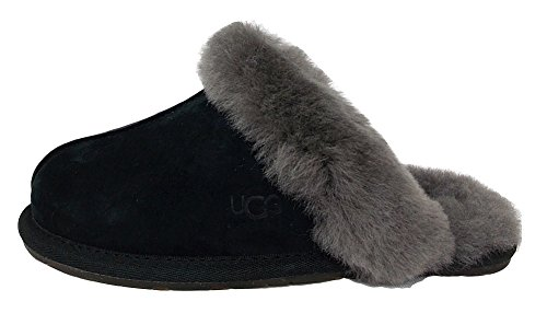 UGG W Scuffette II, Women's Home Stay Shoes, Black/Grey, 39 EU