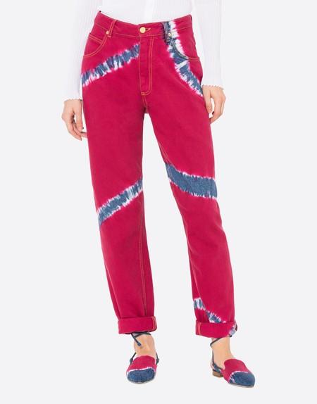 Alberta Ferretti Tie Dye Jeans