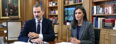The more sober style takes over Queen Letizia's 15 looks during the confinement (several of them repeated)