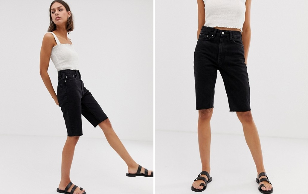 Cowboy shorts with frayed bottoms