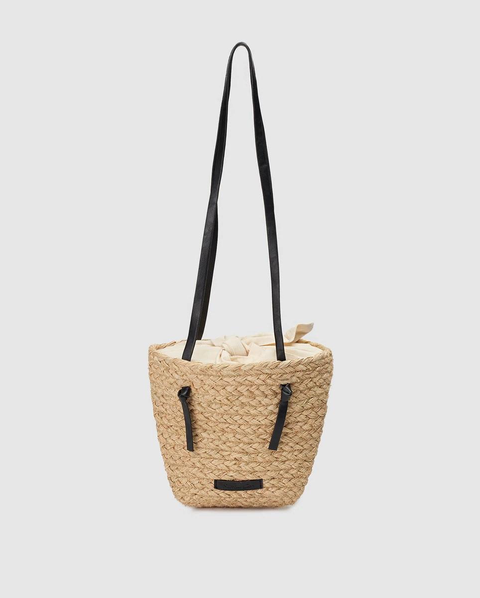 Jute basket with loop inside
