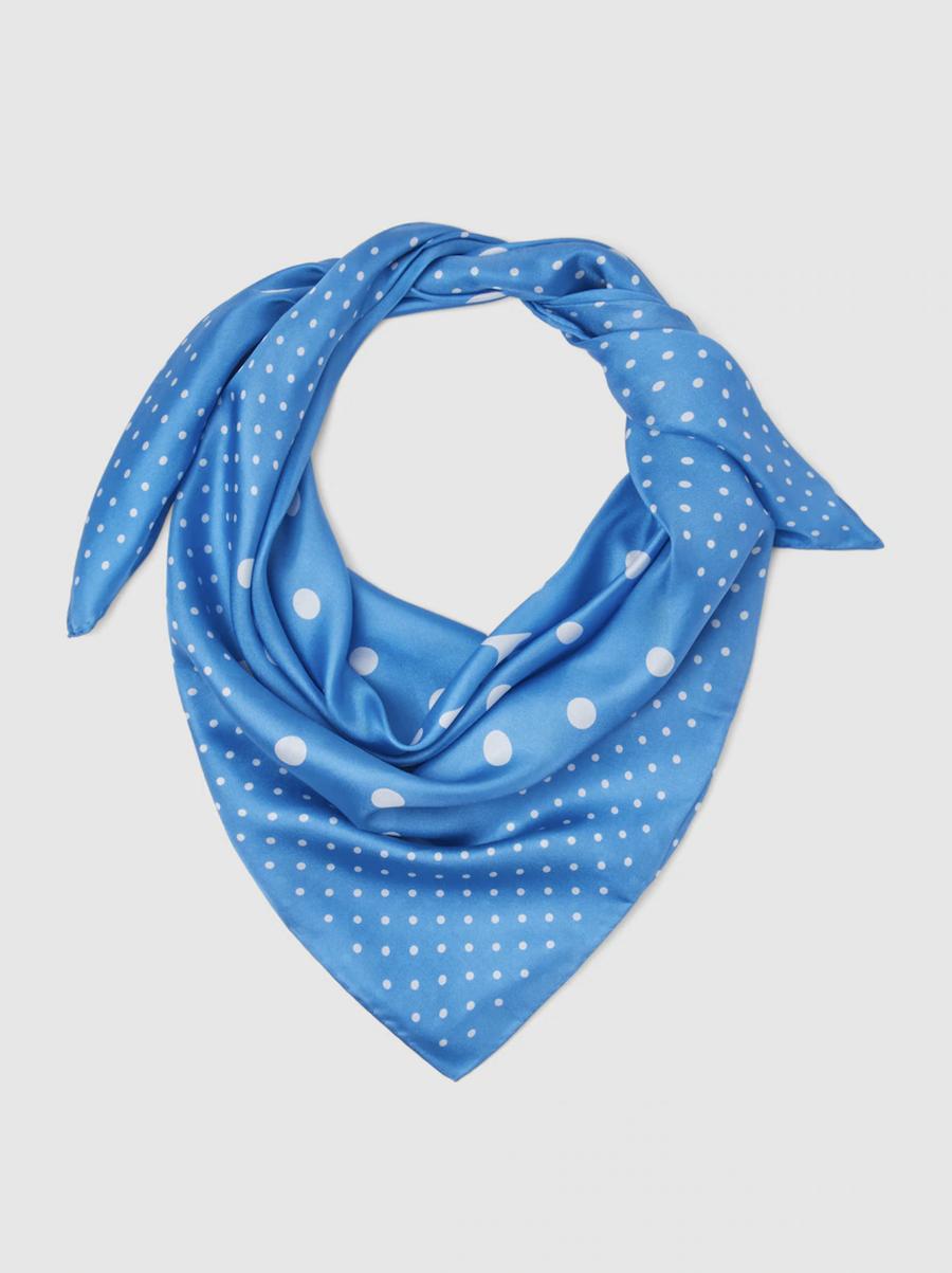 Lauren Ralph Lauren silk scarf blue square