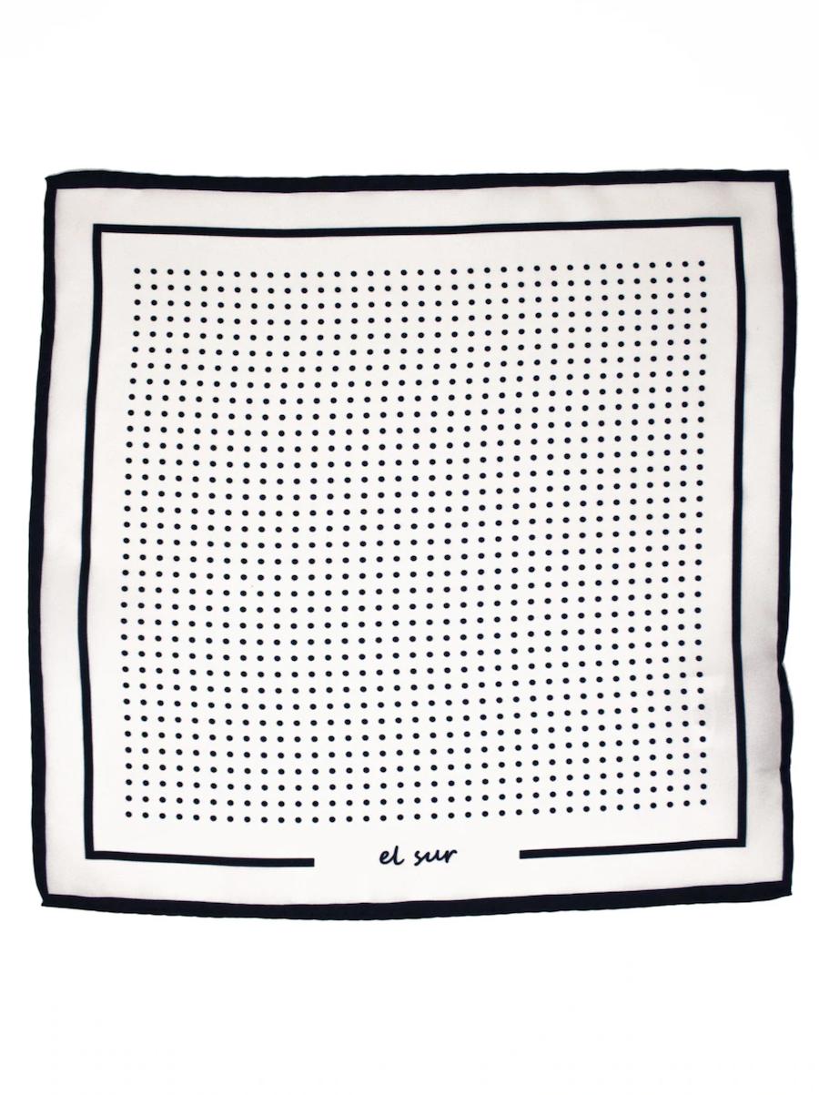 Victorio & Lucchino El Sur white polka-dot silk scarf