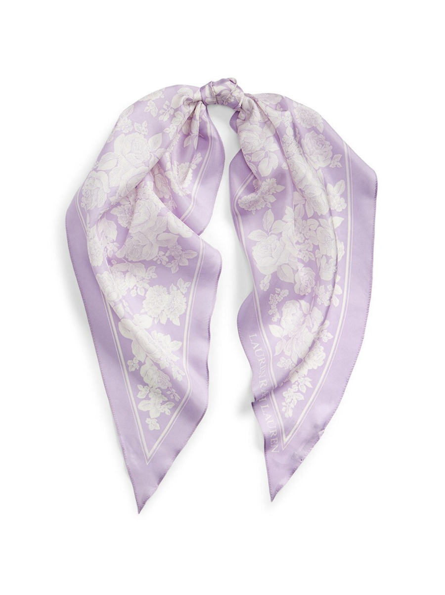 Lauren Ralph Lauren Scarf purple print
