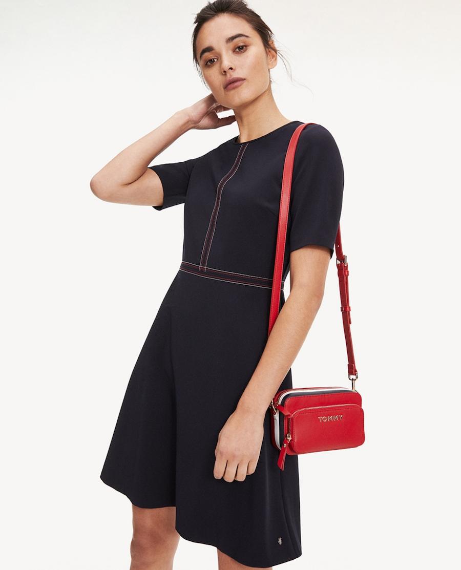 Mini women's dress with short marl