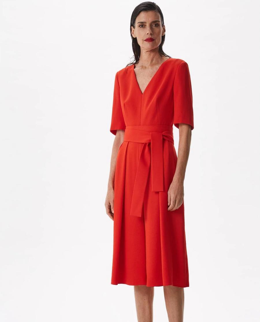 Women's short-sleeved skirt effect jumpsuit