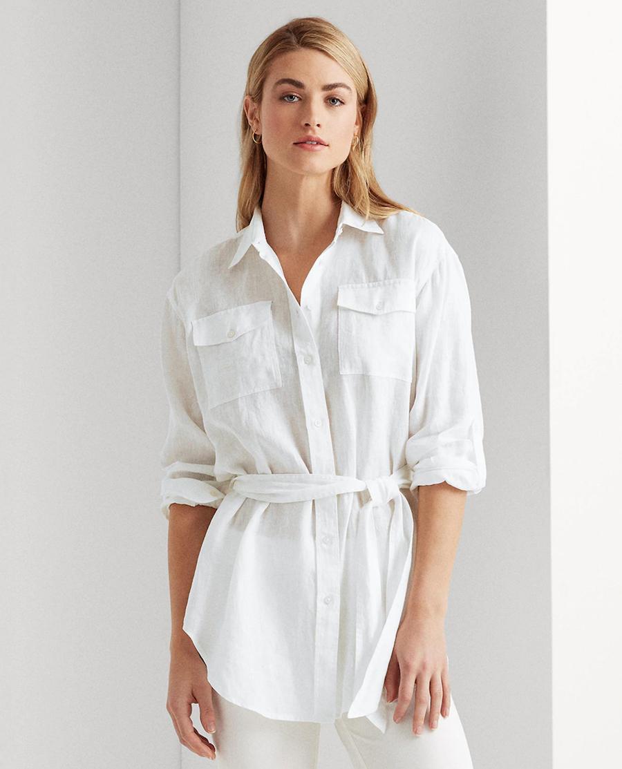 Long sleeve, plain women's blouse