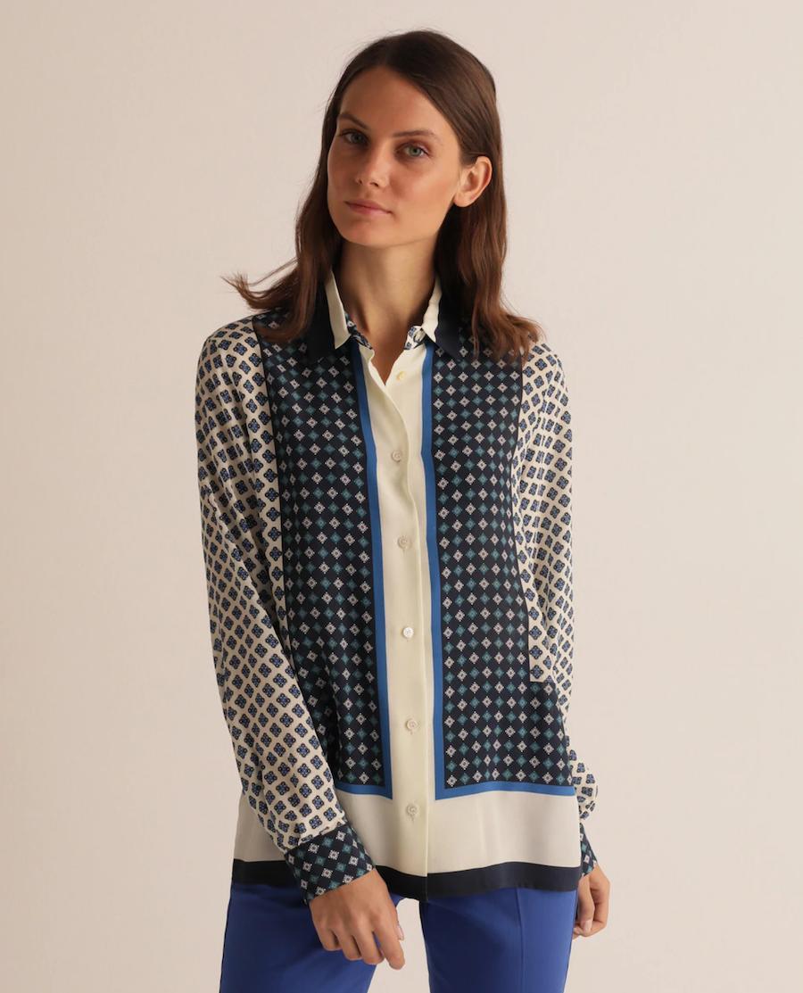 Women's shirt with geometric pattern