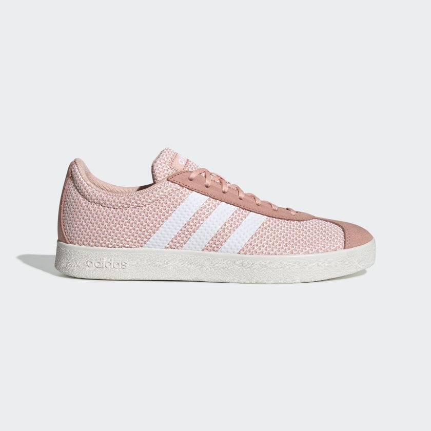 Pink die-cut fabric shoe