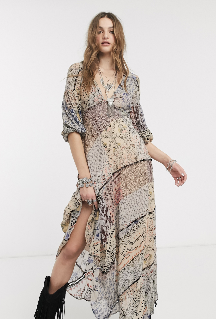 Long dress with Moroccan print dream by Free People
