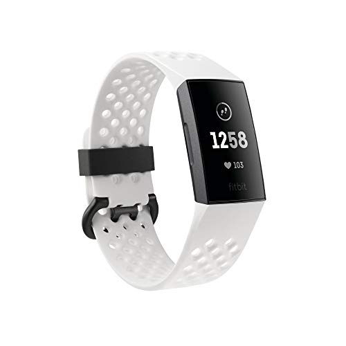 Fitbit Charge 3 Advanced Health & Fitness Bracelet, Unisex-Adult, Graphite/White, One Size