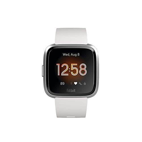 Fitbit Versa Lite - Smartwatch Adult Unisex Sports Watch, White/Silver Aluminum, One Size