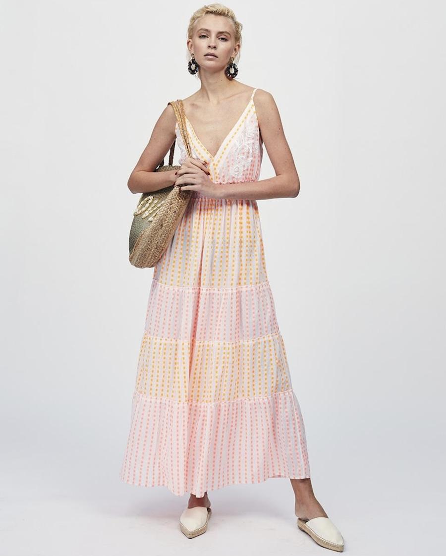 Fluoride detailing strapless dress