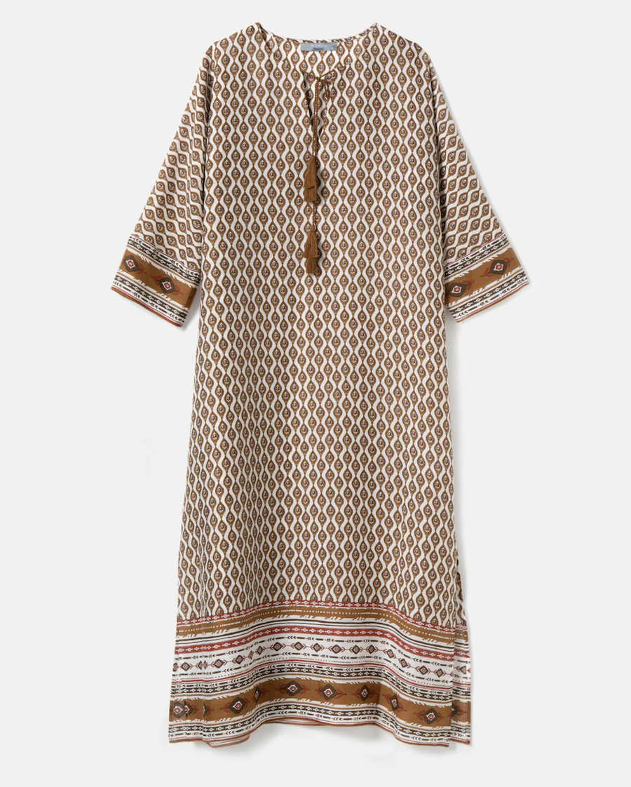 Woman Collection long dress with geometric print