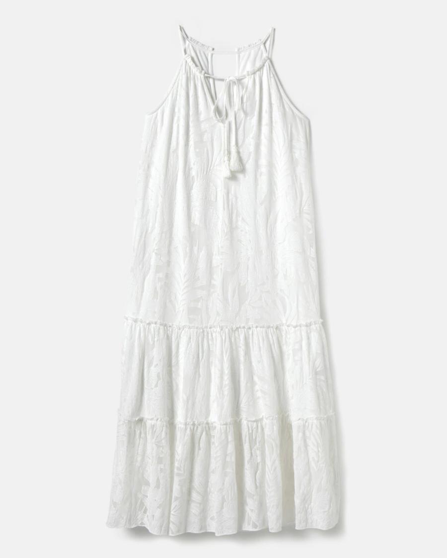 Flower-toned strapless dress