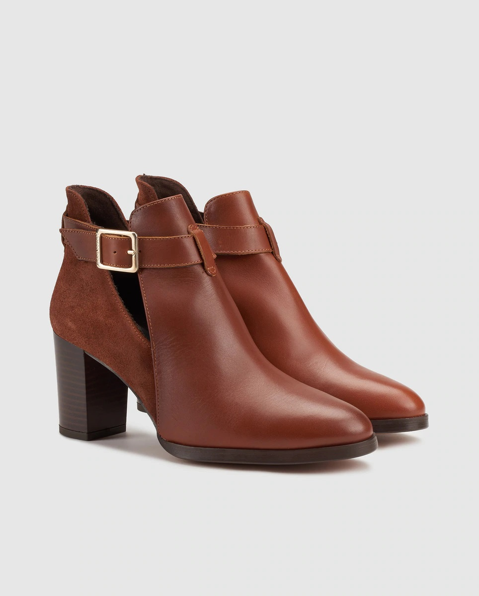 Leather and suede boots with Zendra openings