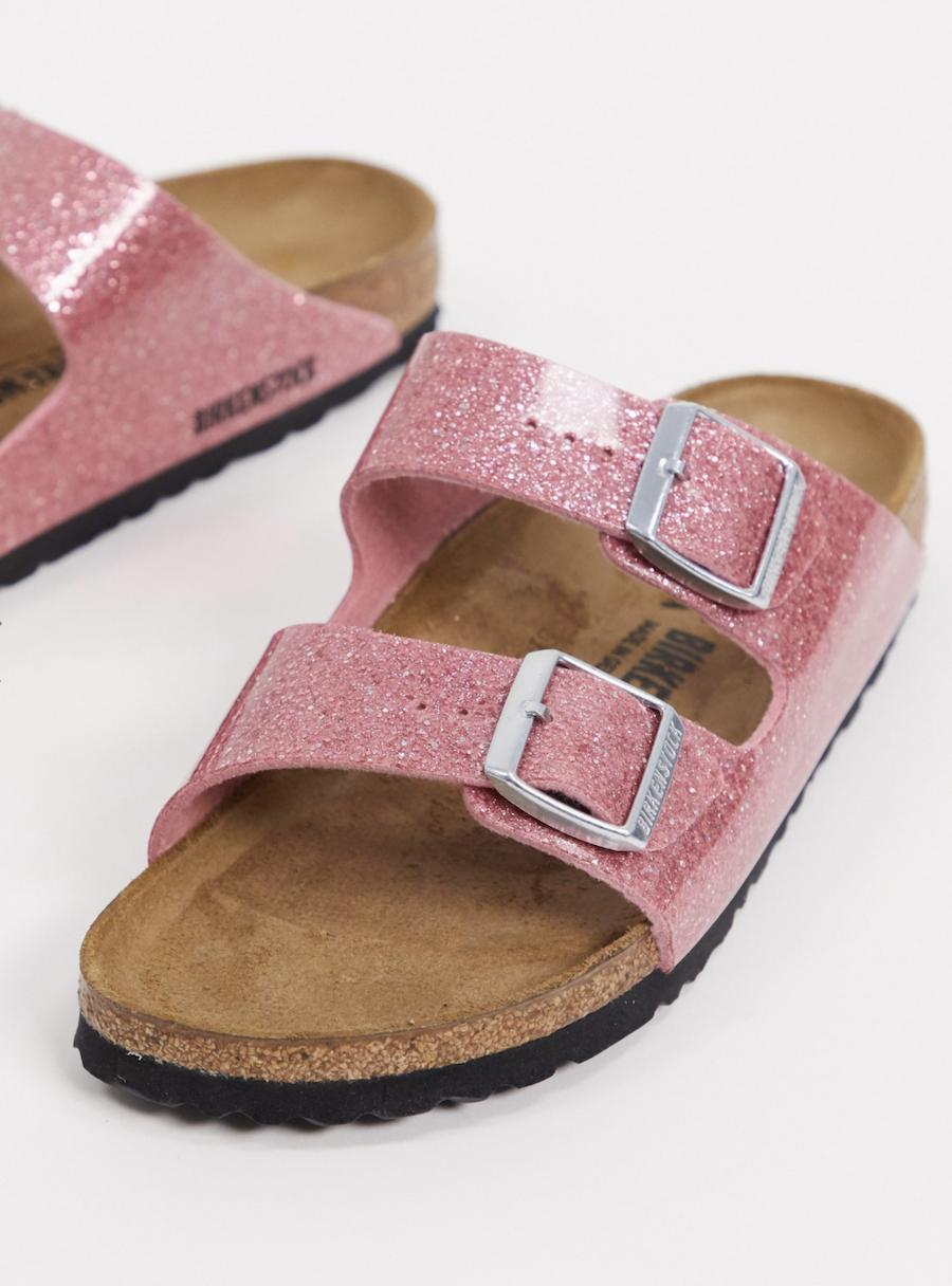 Pink sandals with cosmic glow Arizona by Birkenstock