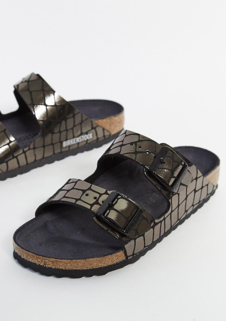 Black Crocodile Effect Sandals from Birkenstock