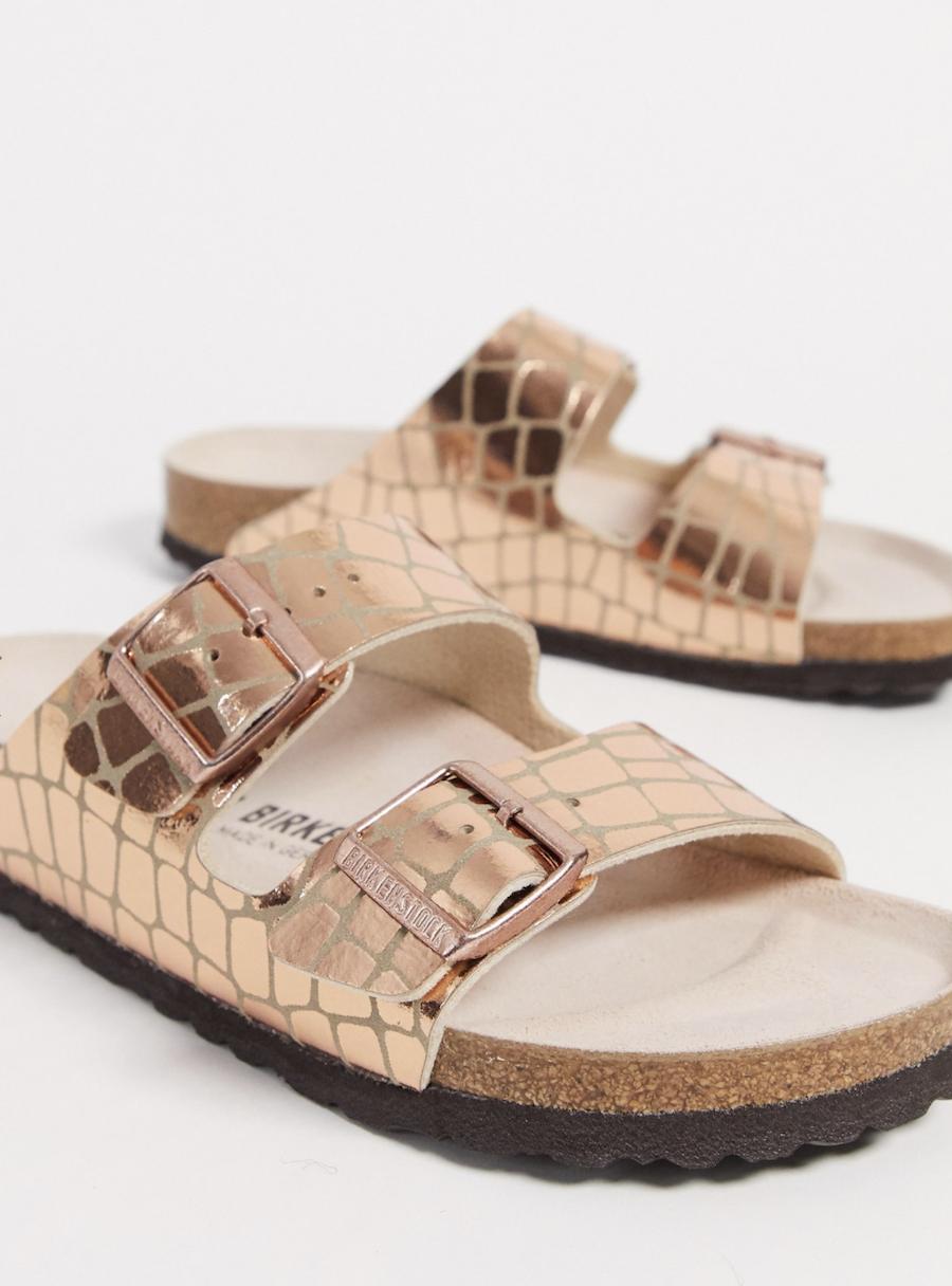 Birkenstock's Golden Pink Arizona Sandals