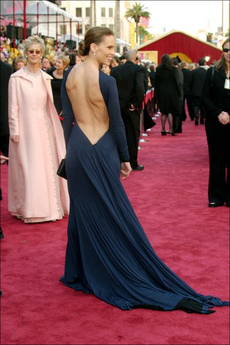 Oscar was worn by Hilary Swank in 200