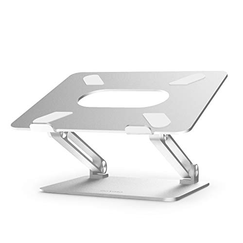 BoYata - Notebook Stand (multi-angle, thermally ventilated lift), Compatible with 10-17 inch laptops with MacBook Pro/Air, Surface, Samsung, HP Notebook (Silver)