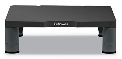 Fellowes - Standard Monitor Lift Stand, for Desktop and Laptop, Height Adjustable, Graphite