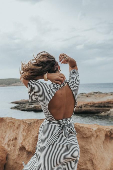 Open Back Dress 01