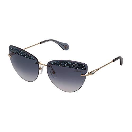 Blumarine Sunglasses SBM138S 300K 65-15-140 women's bright pink gold Smoke gradient lenses