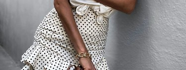 Polka dot and frilly: this is Zara's most wanted miniskirt of the moment (still available)