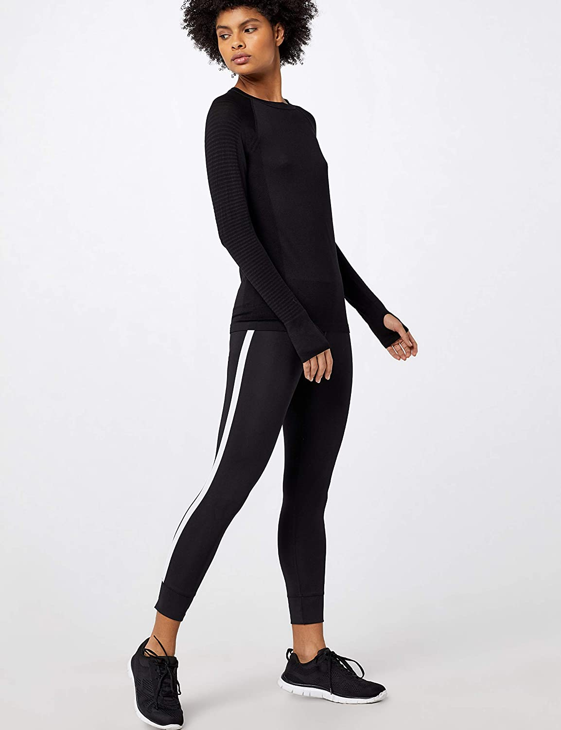 Contrasting side band tights