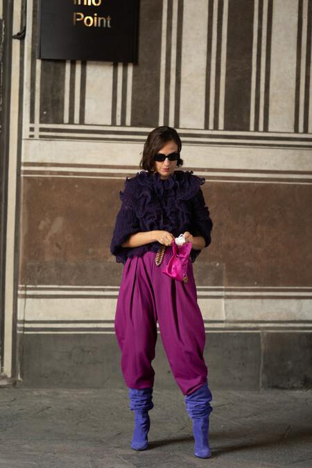 street style how to combine purple