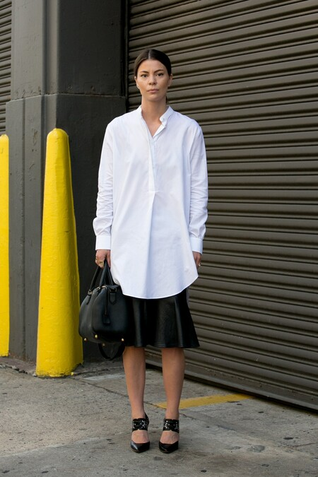 how to wear the oversize shirt