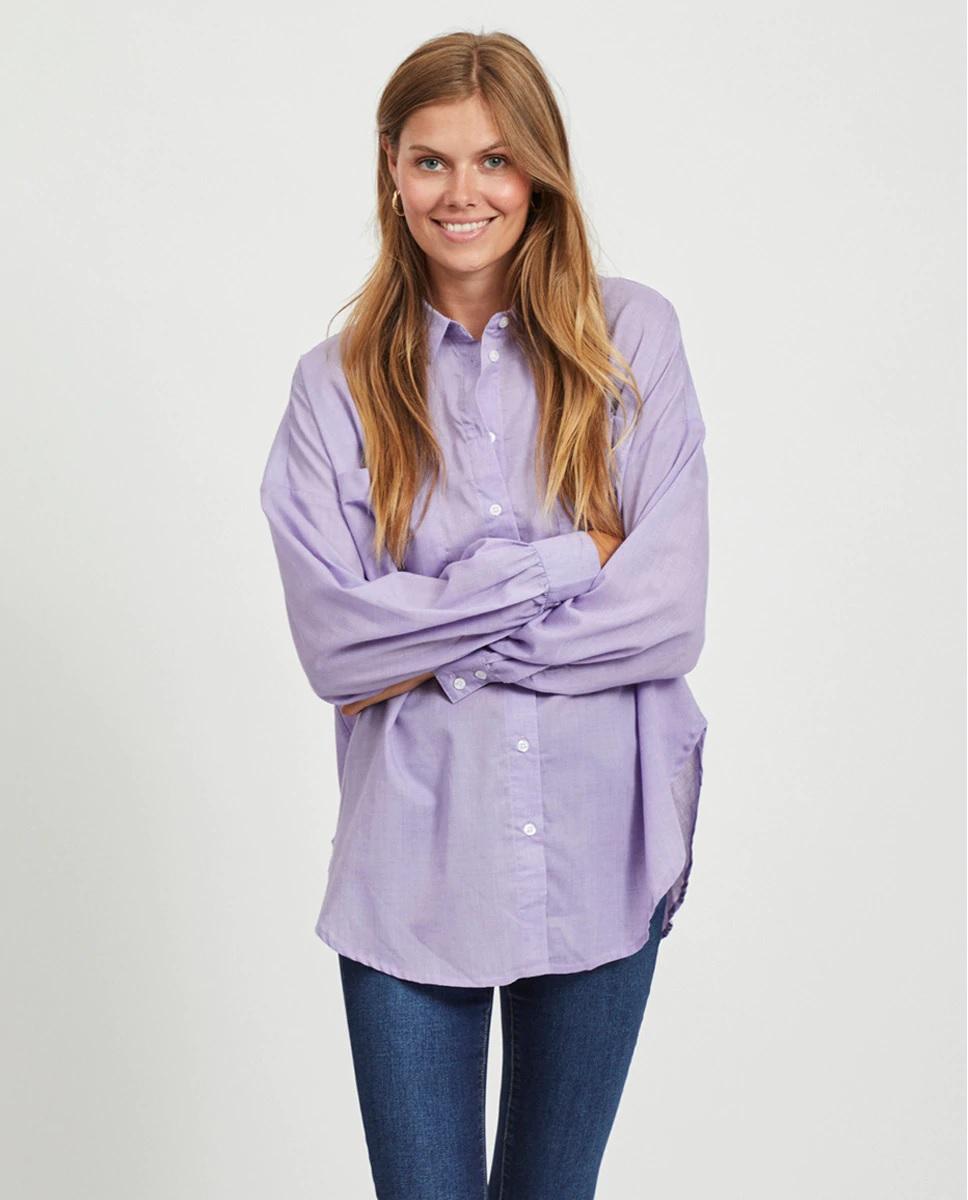Vila lilac oversize shirt