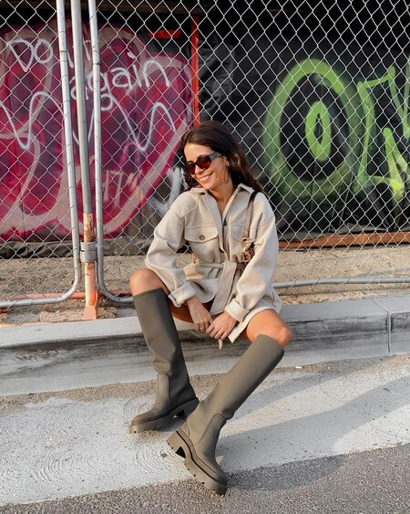 Street Style Boot Water Khaki Zara 02