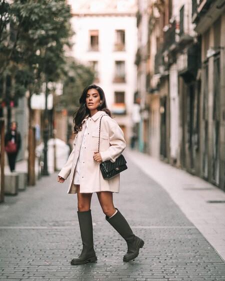 Street Style Boot Water Khaki Zara 03