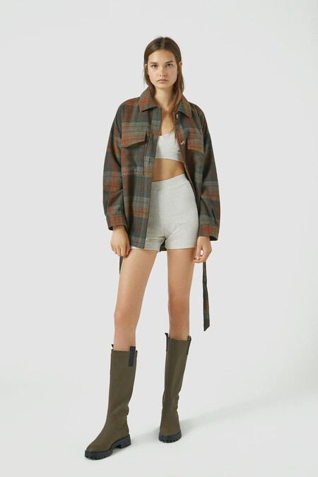 Pull And Bear Khaki Water Boot