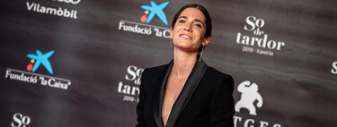 Actress Bruna Cusí reminds us of the power of a tuxedo jacket at the 53rd Sitges Film Festival