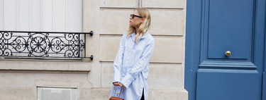 21 street style looks that will inspire you to match your blue shirt every day of the year