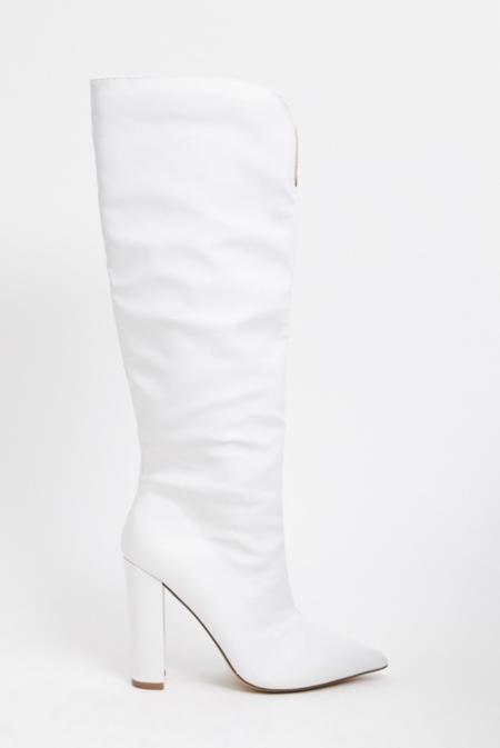Public Desire Slow White Knee Boots